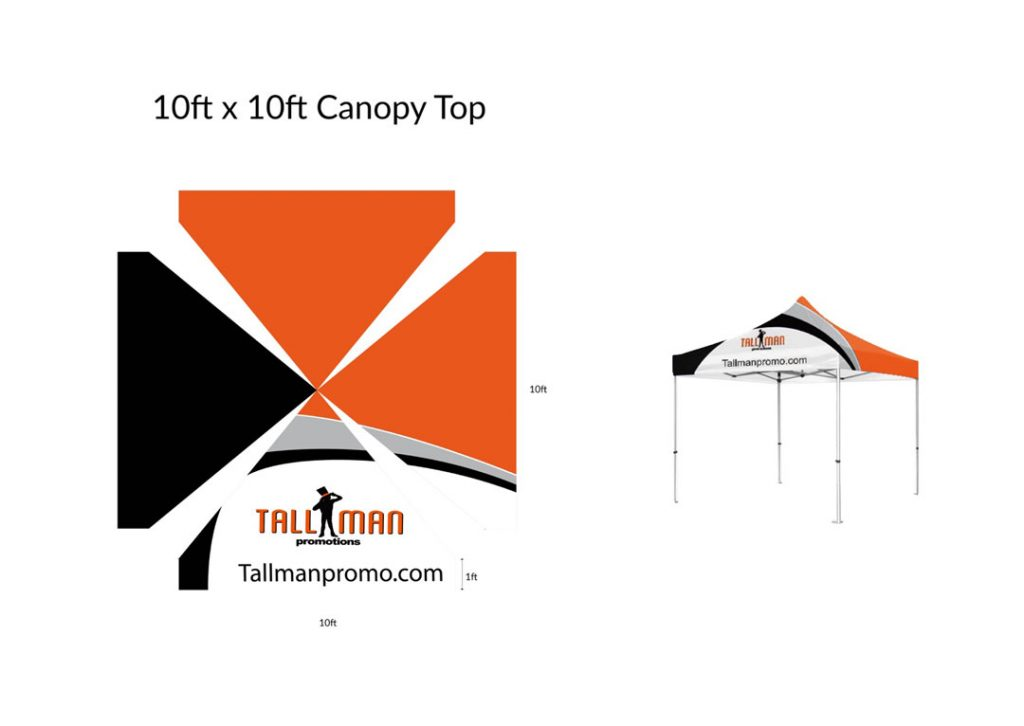 10x10 canopy artwork template