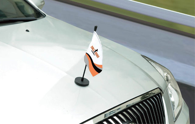 Magnetic Car Flag Tall Man Promo 1 Source For Event Marketing