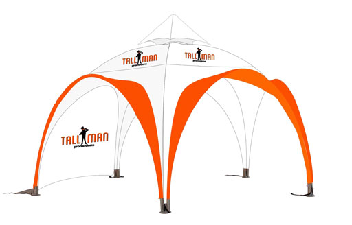 Protego solid frame arch tent