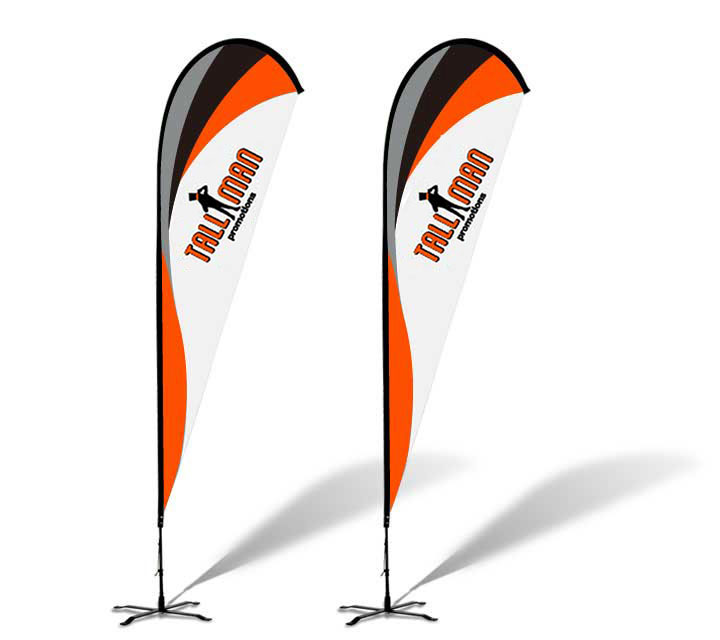 Teardrop Banner Flag - Tall Man Promo | #1 Source for Event Marketing