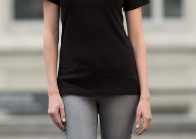 custom ladies v neck shirt